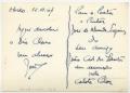 Bilhete postal de João Cid dos Santos a José de Almada Negreiros