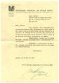 Carta da Sociedade Nacional de Belas Artes a José de Almada Negreiros