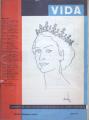 Desenho da Rainha Isabel de Inglaterra