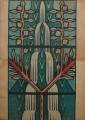 Estudo para os vitrais do baptistério da Igreja Nossa Senhora de Fátima, Lisboa