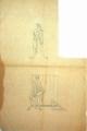 Estudo para a decoração da fachada da Reitoria da Universidade de Lisboa: Heráclito de Éfeso e Pitágoras