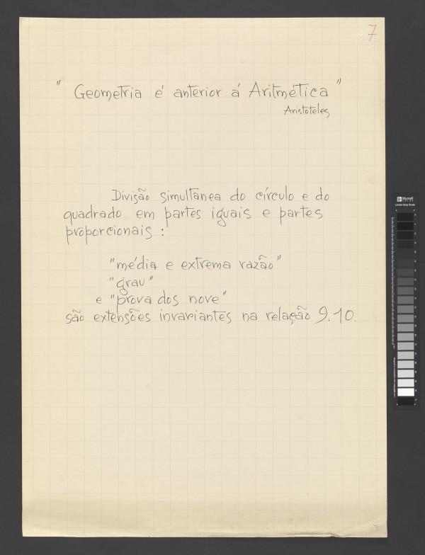 """""""Geometria é anterior à Aritmética"""""""