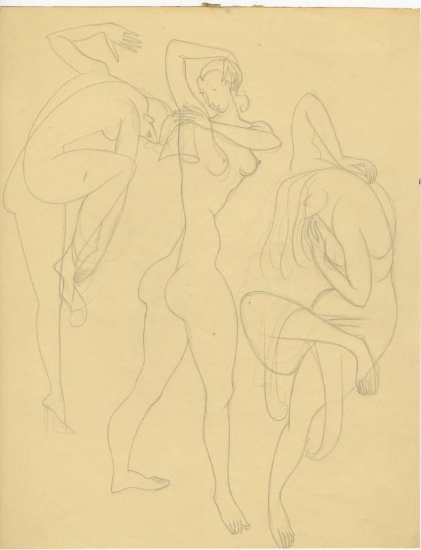 Três figuras femininas