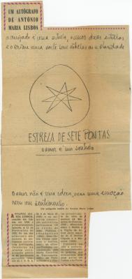 Um autógrafo de António Maria Lisboa