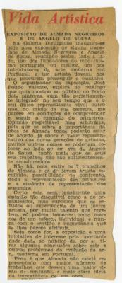 Vida Artística , Exposição de Almada Negreiros e Ângelo de Sousa
