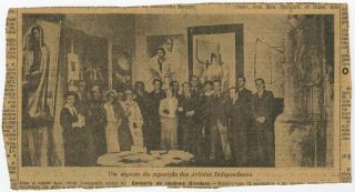 Um aspecto da exposição dos Artistas Modernos Independentes