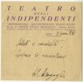 Carta de A. Bragaglia a José de Almada Negreiros