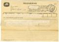 Telegrama de Jaime Isidoro a José de Almada Negreiros