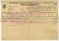 Telegrama de Aida Maria a José de Almada Negreiros