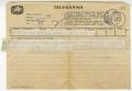 Telegrama de Carlos Ramos a José de Almada Negreiros