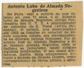 Falecimentos / António Lobo de Almada Negreiros