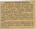 Falecimentos / António de Almada Negreiros