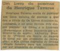 Um livro de poemas de Henriques Tavares