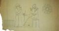 Estudo para a decoração da fachada da Reitoria da Universidade de Lisboa: Código de Hammurabi